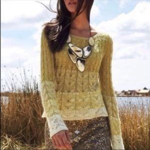 Anthropologie sparrow fading stitch knit sweater